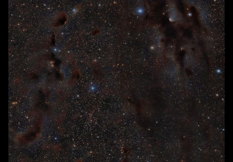Dark nebulae in Taurus - Barnard 14 and 18,                                Göran Nilsson