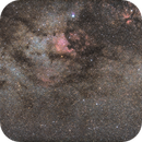 Milky-Way, Nordamerika-Nebel NGC 7000 und Pelikan-Nebel IC 5070 Neubearbeitung,                                Matthias Groß