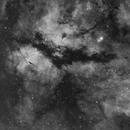 Gamma Cygni Nebula - Ha 1x2 Mosaic,                                Brad