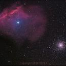 M4 and nebula around Al Niyat,                                1074j