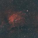 NGC 6820/6823-Ha-HOO-Meade 80 ED triplet-ASI 1600 MM-crop-first try,                                Adel Kildeev