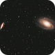 Bode´  s Galaxie Messier (M) 81 und die Zigarrengalaxie Messier (M) 82 im Großen Bären (Ursa Major),                                astrobrandy