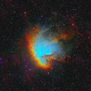 Pacman Nebula in SHO-LRGB,                                equinoxx