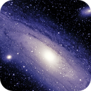 M31 in Visual and Deep Sky Filter,                                Steve Lantz