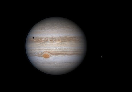 Jupiter 2020-05-24: Ganymede emerging from Jupiter's shadow,                                Darren (DMach)