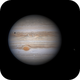 Jupiter 2020-05-24: Ganymede emerging from Jupiter's shadow,                                Darren (DMach)