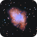 "M1 ""The Crab Nebula"" under full Moon!,                                Carlo Caligiuri"