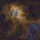Sh2-132 - Lion Nebula (SHO with RGB stars),                                Kurt Zeppetello