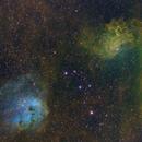 IC405 Flaming Star Nebula & IC410 Open Cluster,                                Ben Koltenbah