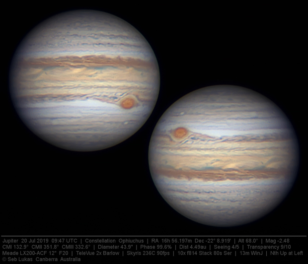 Jupiter 20 Jul 2019 - 13 min WinJ composite 2/3,                                Seb Lukas