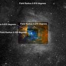 NGC 7635, Bubble Nebula, Hubble Palette and H-alpha, Different Field Radius',                                Eric Coles (coles44)