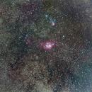 Lagoon, Trifid and Saturn,                                Paulo Cacella