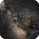 Milky Way (southern part) above city light pollution, around Sagittarius and Lagoon Nebula,                                Cyril NOGER