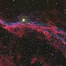 Western Veil Nebula (RGBHa detail),                                David McClain
