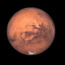 Mars with polar ice cap 16/10/2020,                                geethq