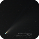 Comet Neowise (200 mm) - Time lapse (44 mn),                                Olivier Ravayrol
