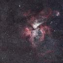 Carina Nebula with Stock DSLR (10 mins),                                Trevor Jones