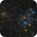 Messier 35 & NGC 2158 - Young and old clusters in the same field of Gemini,                                Ray Caro