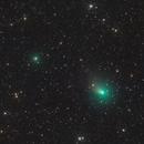Two comets,                                Steed Yu