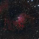 IC405 The Flaming star nebula in RGB,                                Marios Tsalkidis