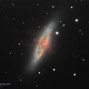 M82 - Cigar Galaxy - Closeup,                                Anis Abdul