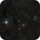 NGC 7023 SH2-136  The Iris and ghost 2-panel mosaic,                                Alan Brunelle