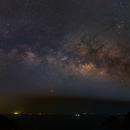 Milky way rising at High Island Hong Kong,                                David Cheng
