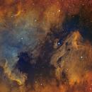 Bicolor (Ha/O3) Mosaic NGC7000 and IC5070,                                Arno Rottal