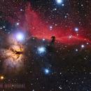 IC434 NGC2024 Head Hourse and Flame Nebula,                                astrotaxi