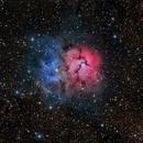 Trifid Nebula - RGB,                                Rodney Watters
