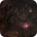 Lagoon and Trifid Nebulae,                                Nikolay Vdovin