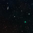 Owl Nebula and Surfboard Galaxy,                                Tristram