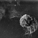 Jellyfish nebulae Ced73/Ced74/IC443/IC444/LBN840/LBN841/LBN844/Sh2-248/Sh2-249/SNR G189.0+03.0/VdB75 narrowfield (c-shorgb),                                Ram Samudrala