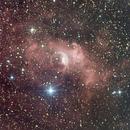 Bubble Nebula, NGC 7635 LRGBHa,                                Manfred Hraba