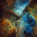 The Eta Carina Nebula - Hubble Palette - Starless Image,                                Eric Coles (coles44)