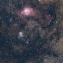 NGC6559 - M8 - M20 RGB - A Sagittarius Triptych,                                andrea tasselli