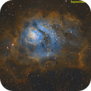 Lagoon nebula in SHO,                                Tom's Pics
