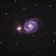 The Whirlpool Galaxy   M51 (NGC 5194),                                schmaks