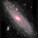 M31, Great Andromeda Galaxy, 2-panel, UHC-S, 2 Oct 2014,                                David Dearden