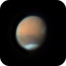 Mars with Tharsis covered by clouds,                                Chappel Astro