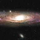 M31 Andromeda Galaxy 15-Panel Mosaic,                                Mark Carter