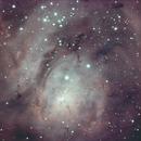 Lagoon Nebula with P2 filter,                                Robin Clark - EAA imager