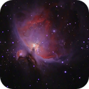 Messier 42 & 43 or M42 & M43 - reprocessed & cropped with some artistic license,                                Stephen Harris