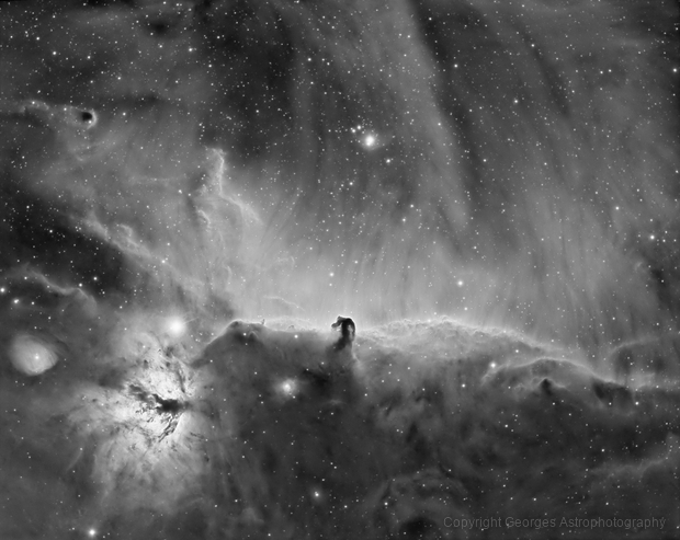 IC434 in Halpha,                                Georges