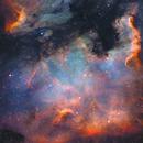 North America Nebula (NGC 7000) Star Processing Study,                                Gary Lopez