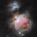 The Orion Nebula and the Running Man Nebula (LRGB),                                Shawn