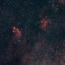 Crab Nebula and Cat's Paw Nebula,                                Thorsten