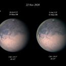 Mars (x2) IR-RGB - 22 Nov 2020,                                Geof Lewis