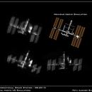 ISS - real photo VS simulation,                                Łukasz Sujka