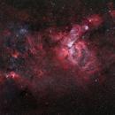 "NGC3576 ""Statue of Liberty"", NGC3372 eta-Carinae-Nebula, NGC3247 &  NGC3199,                                Rolf Dietrich"